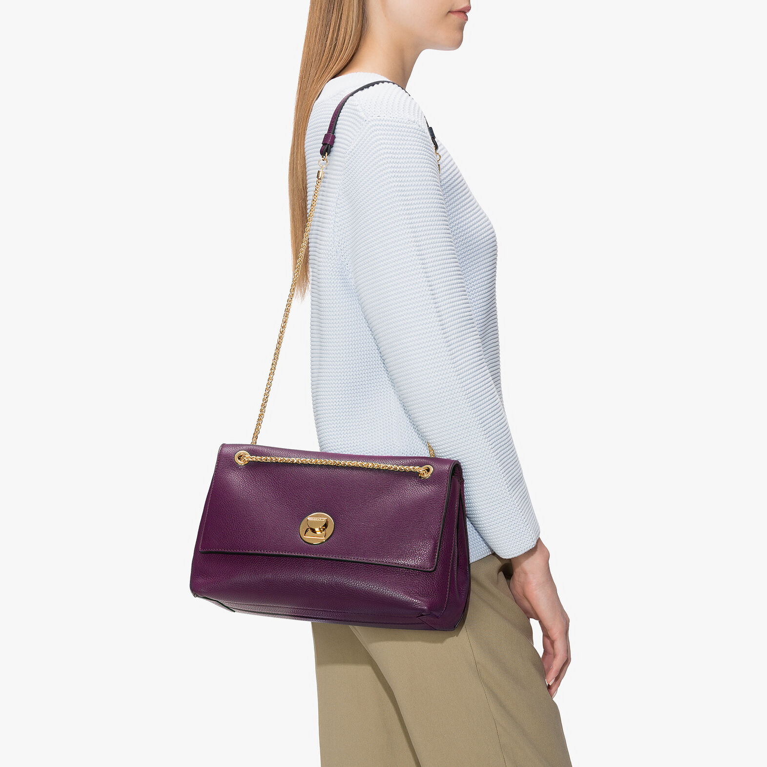 Liya leather bag with a single strap