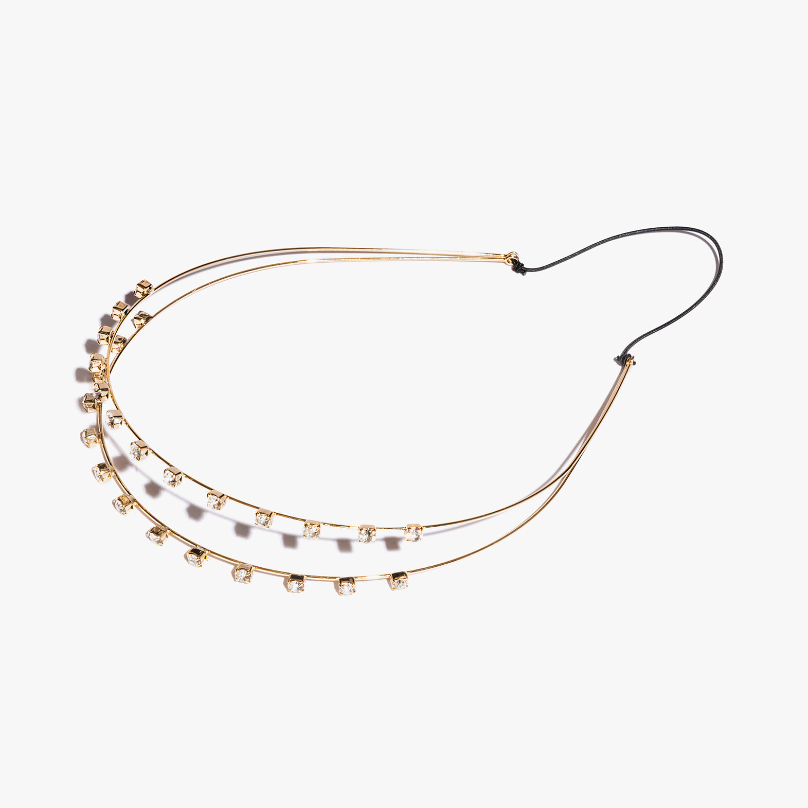 Coccinelle Brass and crystal headband