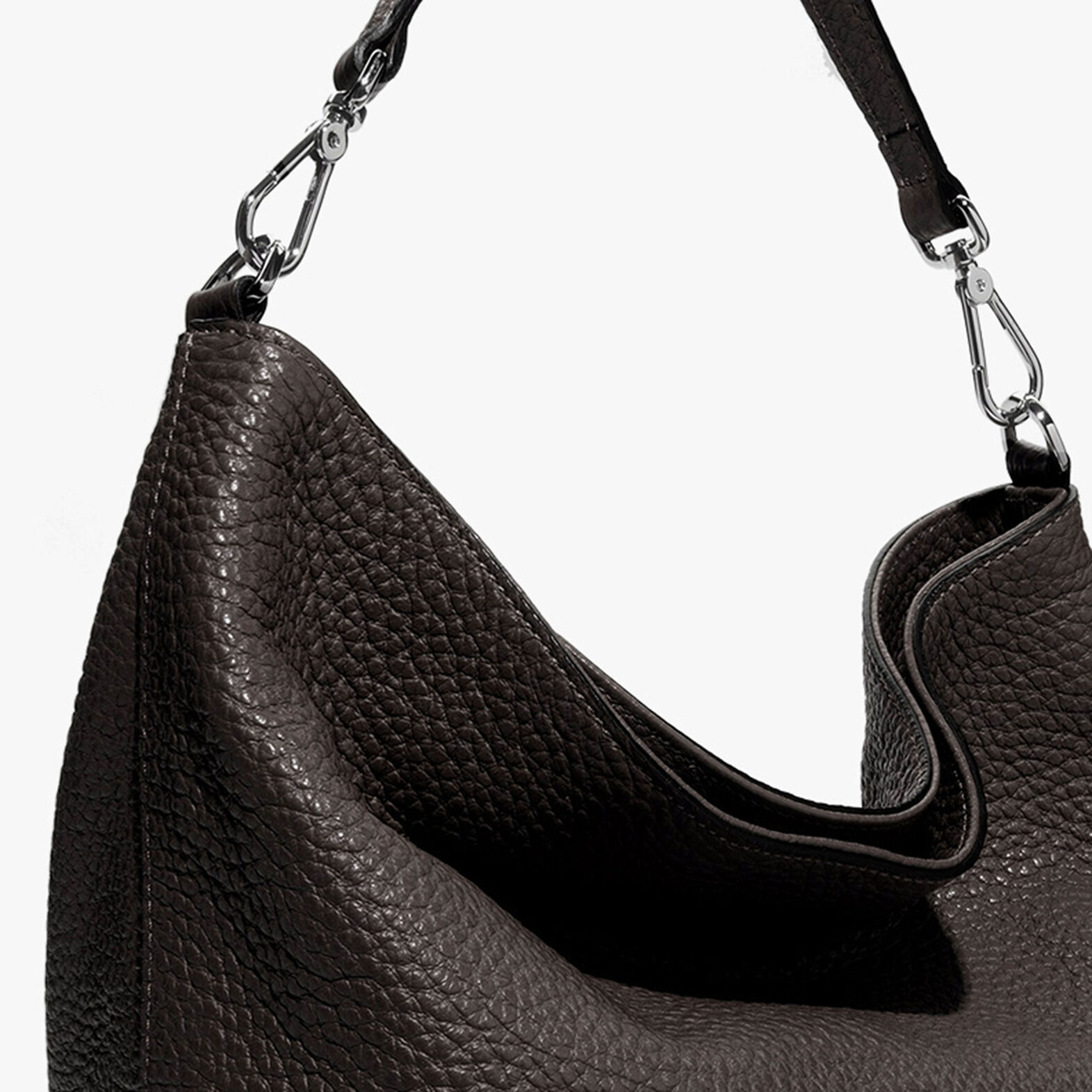 Leather hobo bag
