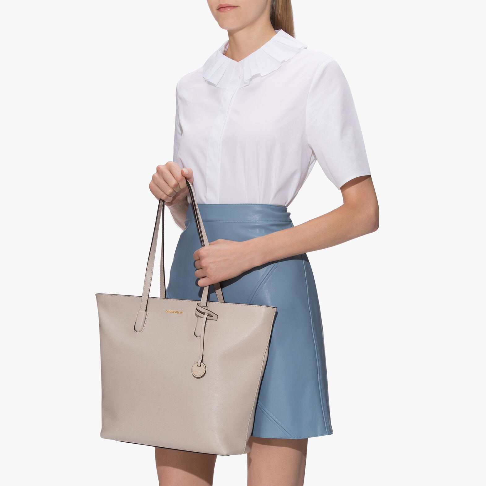 Clementine saffiano shopping tote