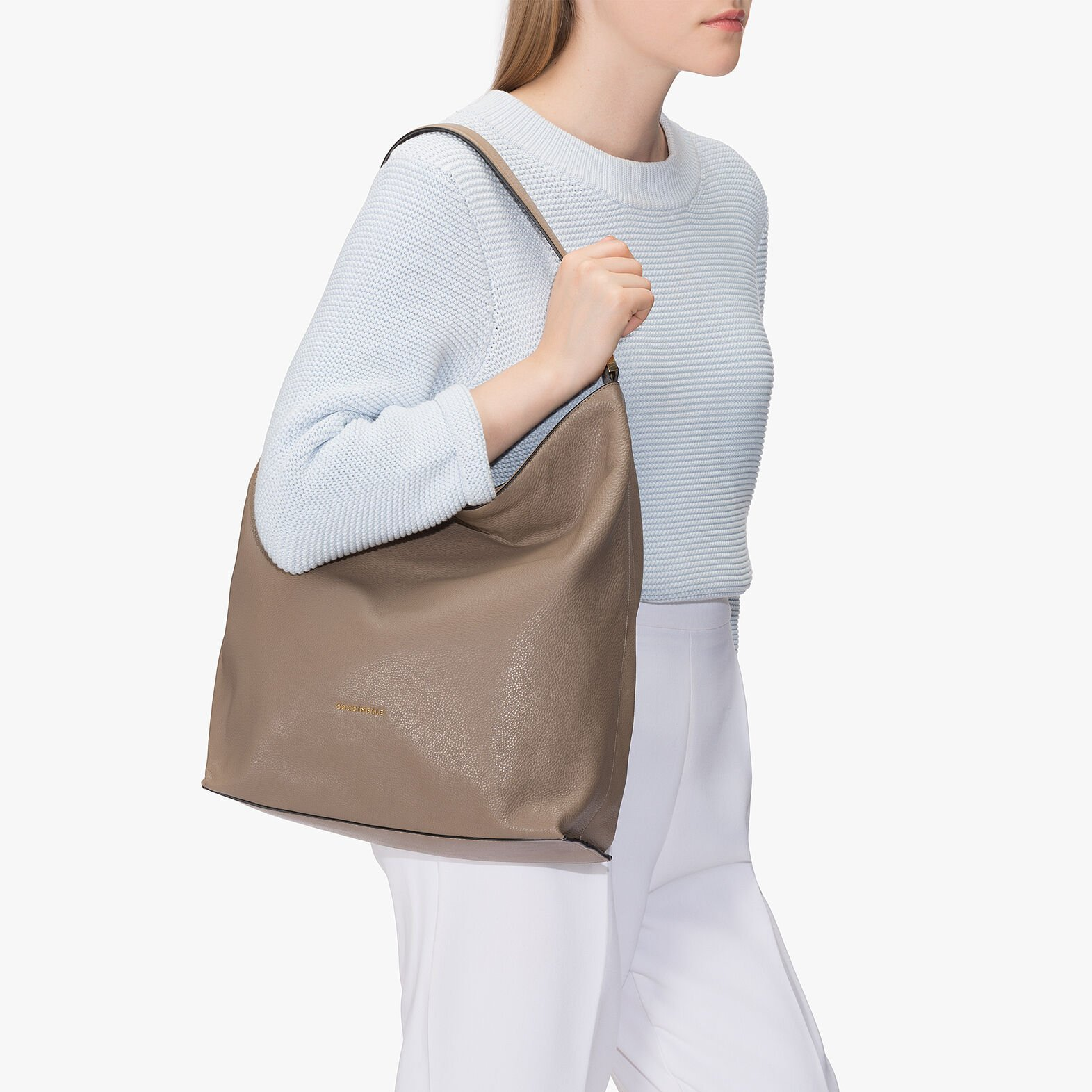 Coccinelle Arlettis leather hobo bag