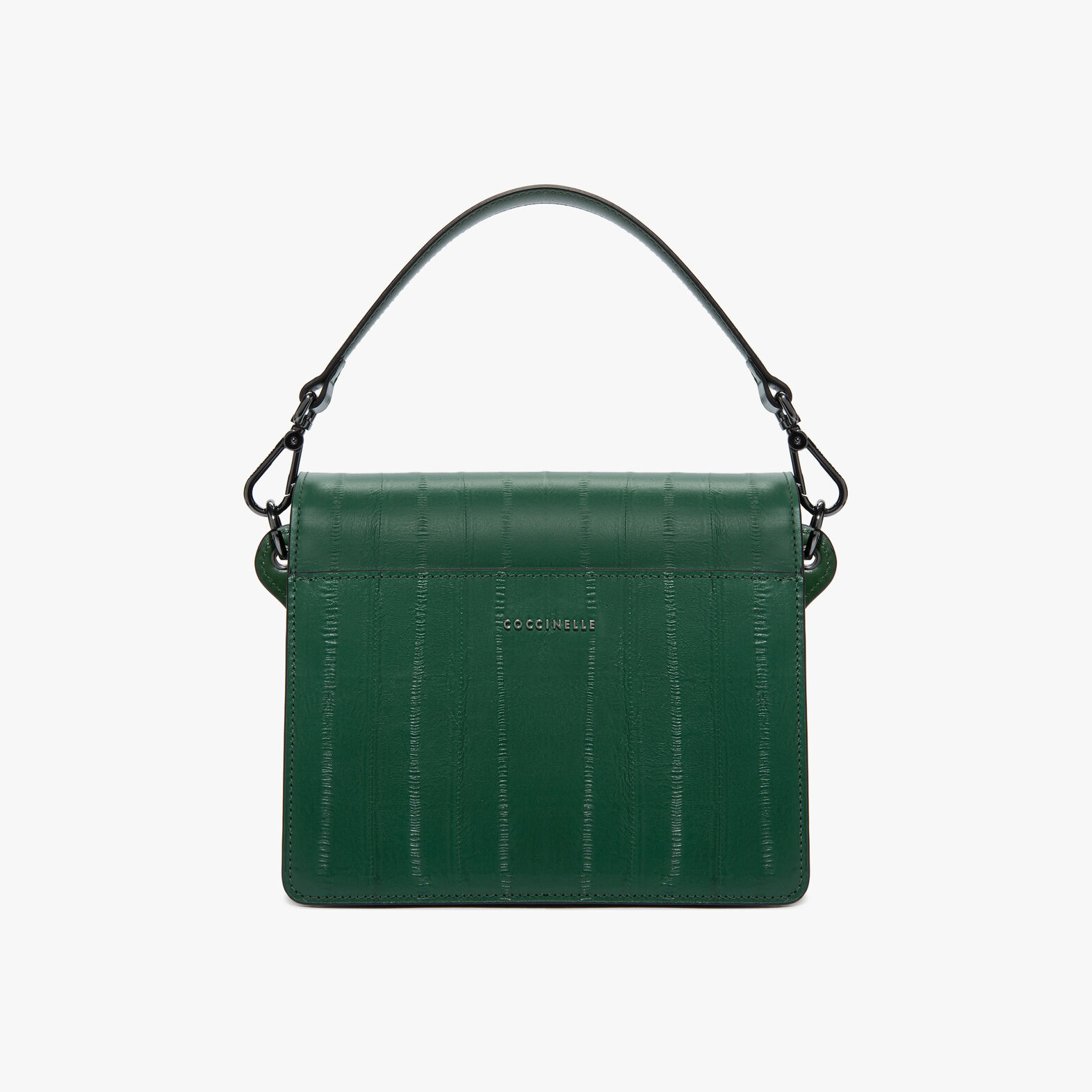 Ambrine eel-print leather bag with a single strap