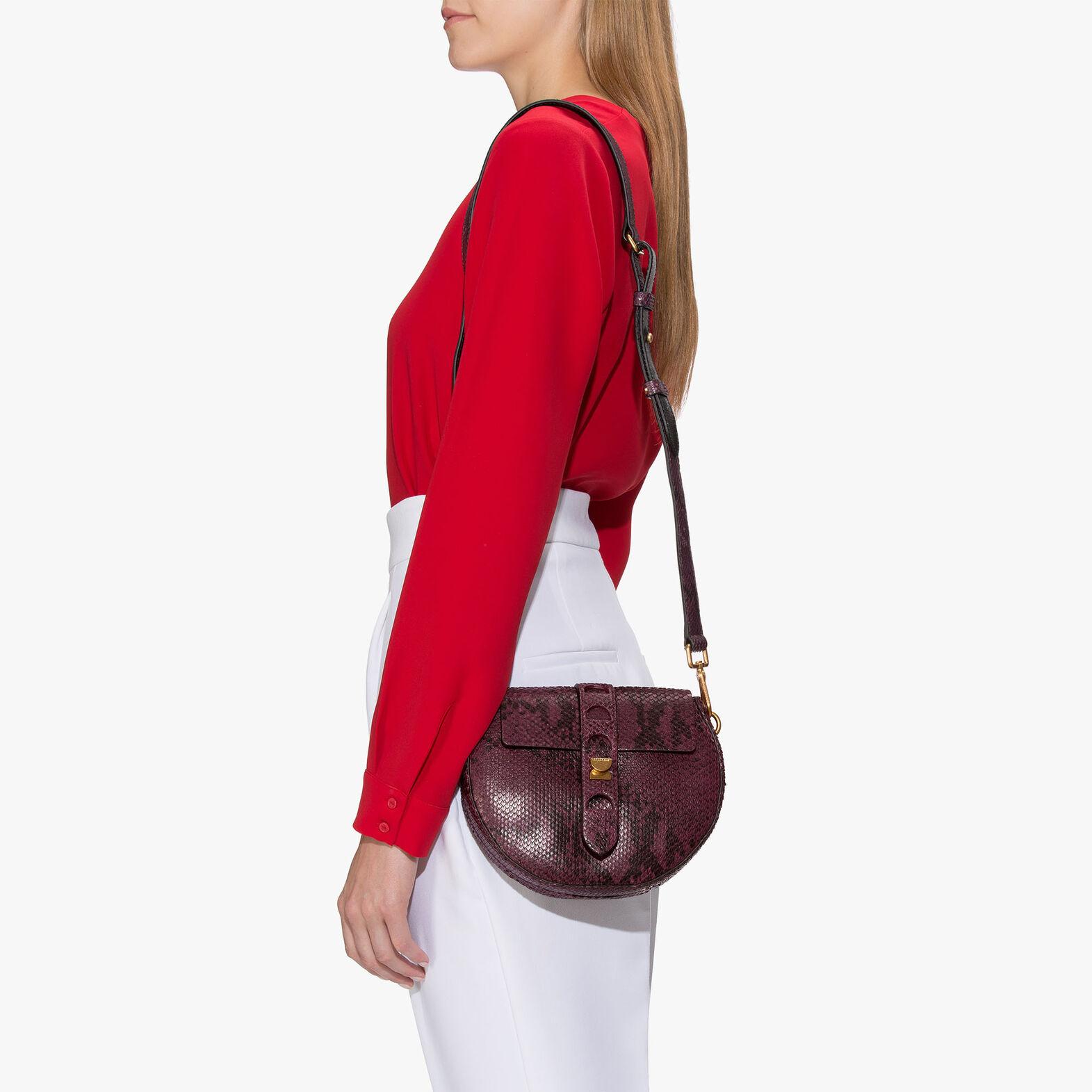 Coccinelle Carousel python-print leather mini bag