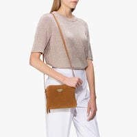 Suede mini clutch
