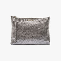 Coccinelle Python-print leather mini clutch