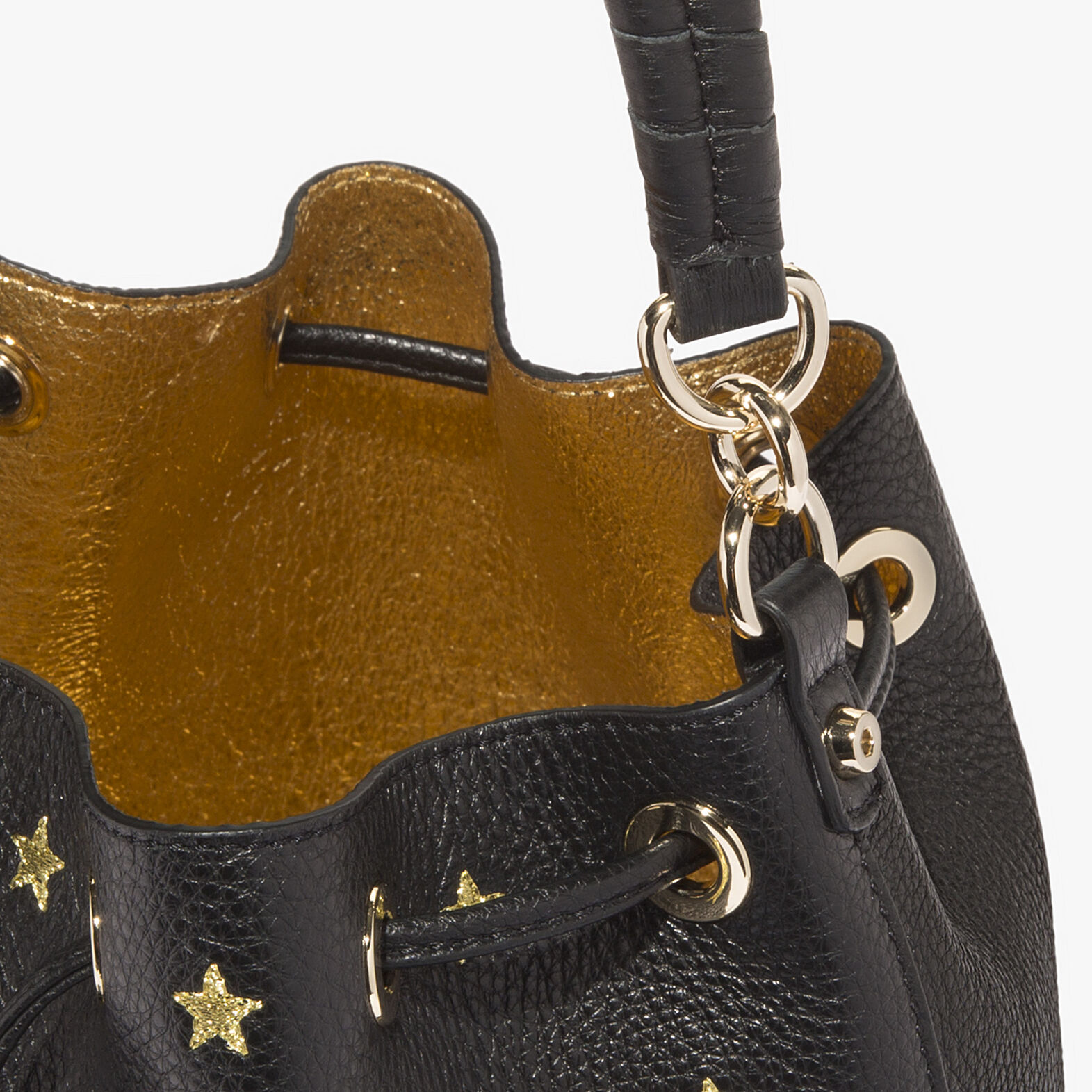 Leonie leather bucket bag