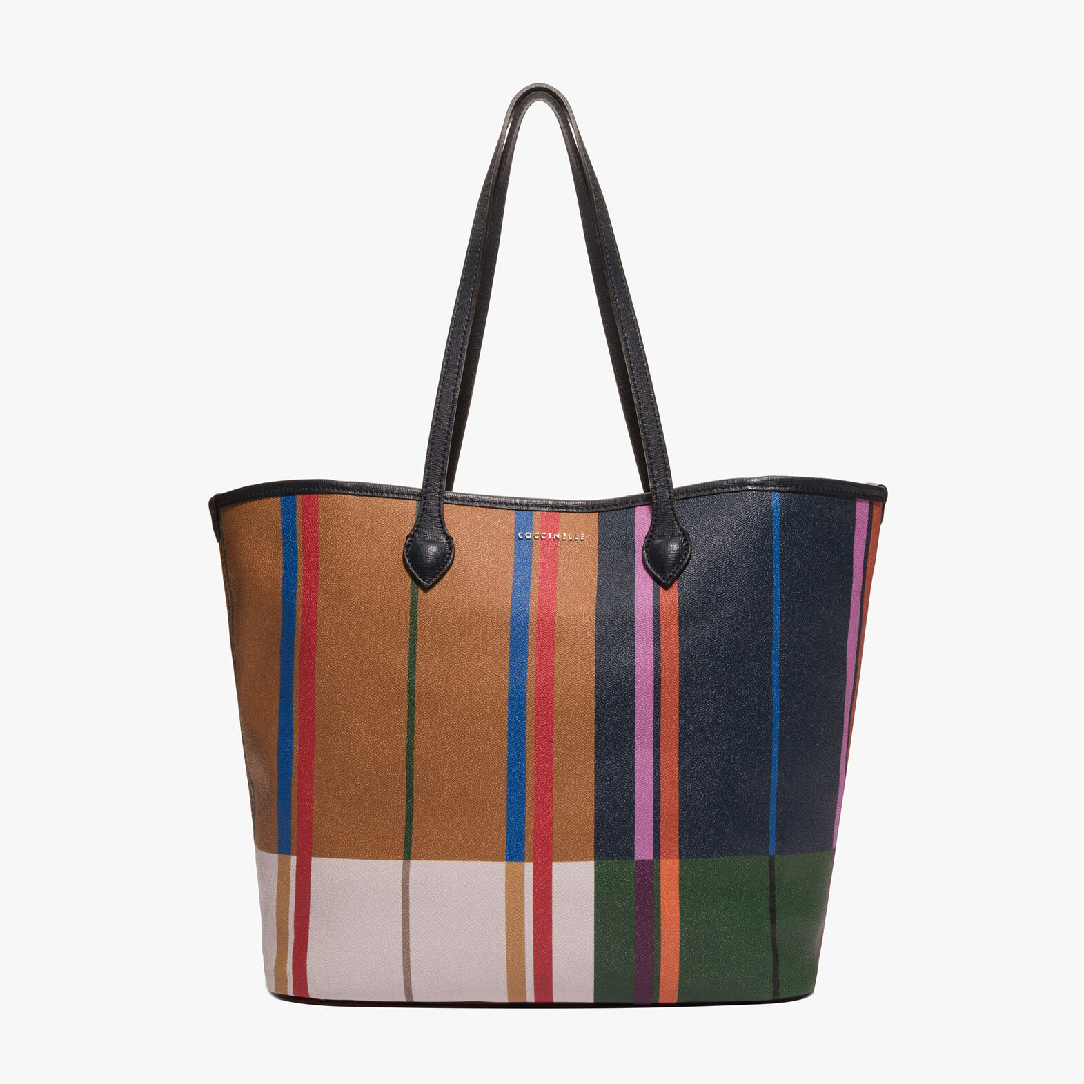 Coccinelle Printed fabric shopping tote