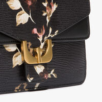 Ambrine clutch in lizard-print leather