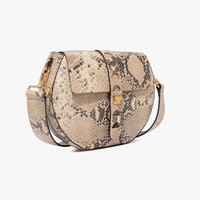 Carousel python-print leather bag with a single strap
