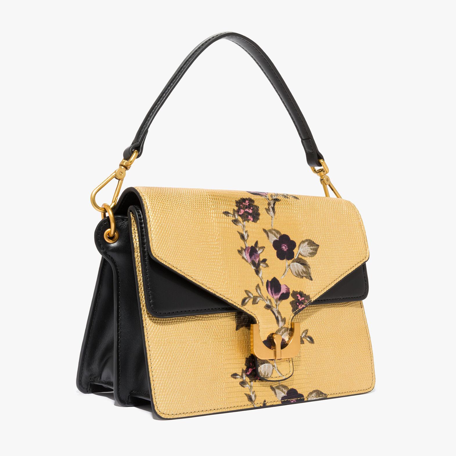 Ambrine lizard-print leather bag with a single strap