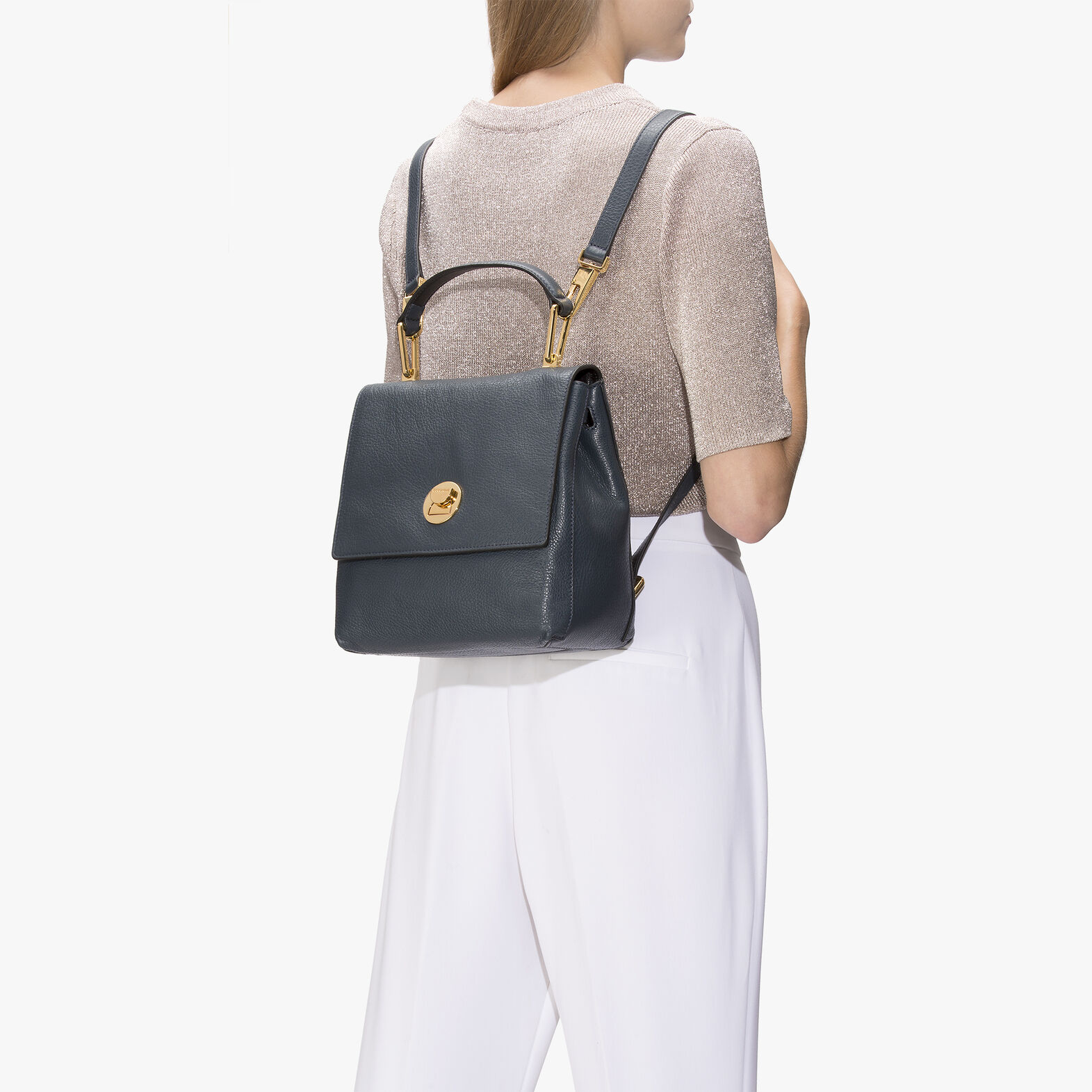 Liya leather mini backpack