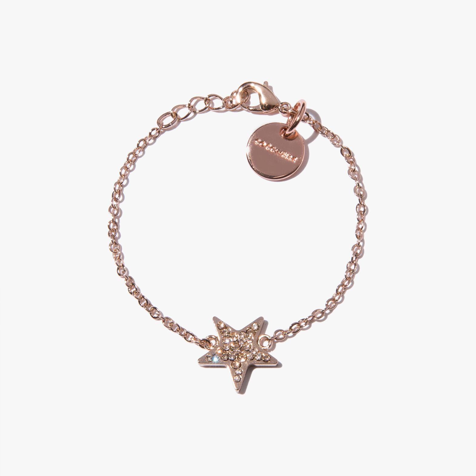 Brass and crystal bracelet