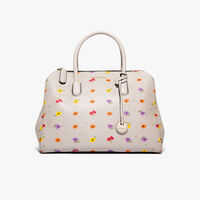 Clementine printed saffiano leather handbag