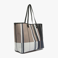 Printed fabric shopping tote