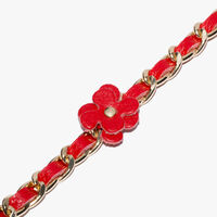Coccinelle Leather and metal bracelet
