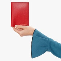 Saffiano document holder