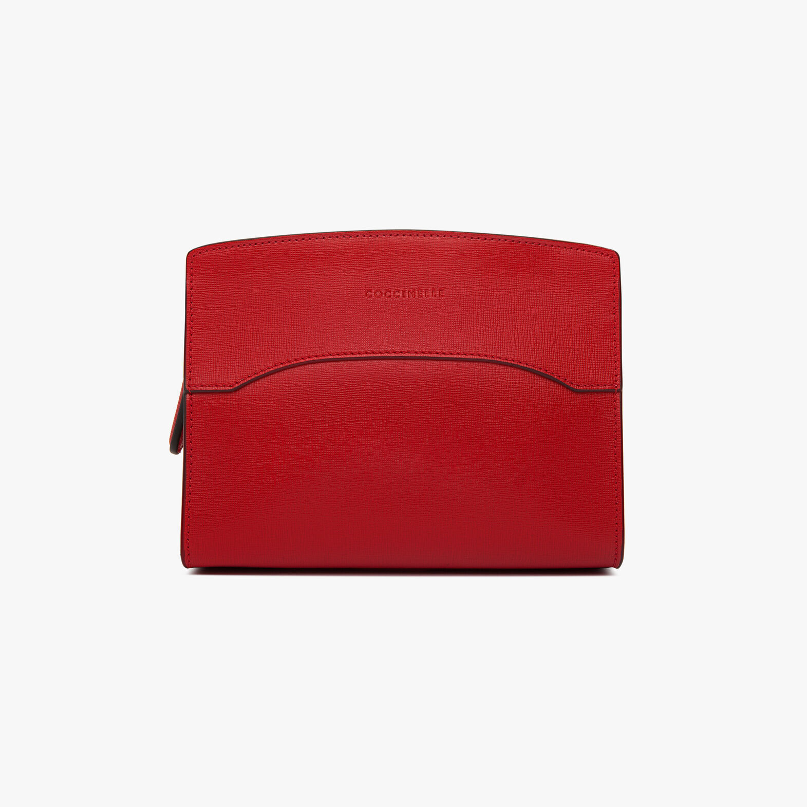 Leather mini clutch