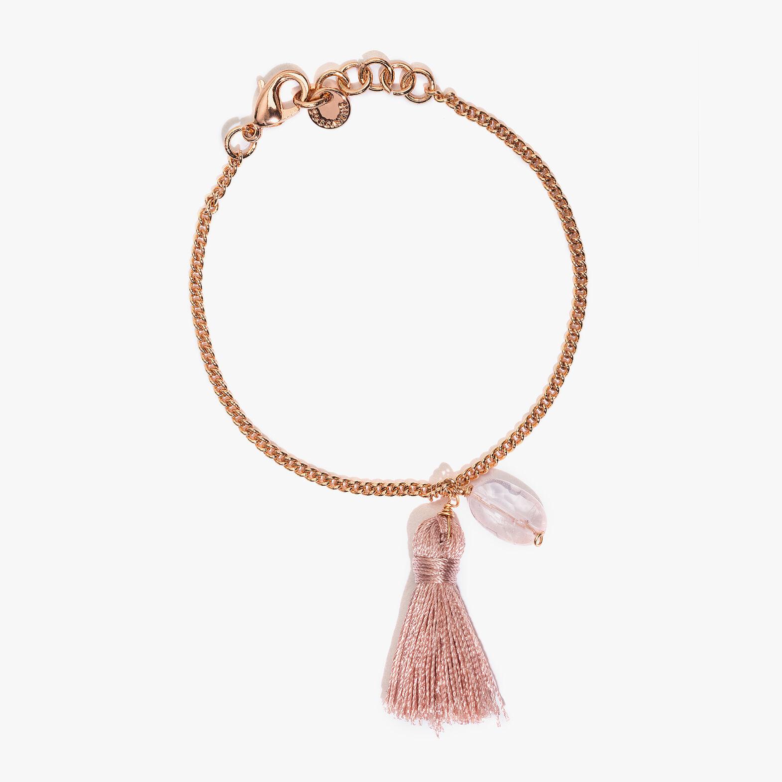 Silver and crystal bracelet