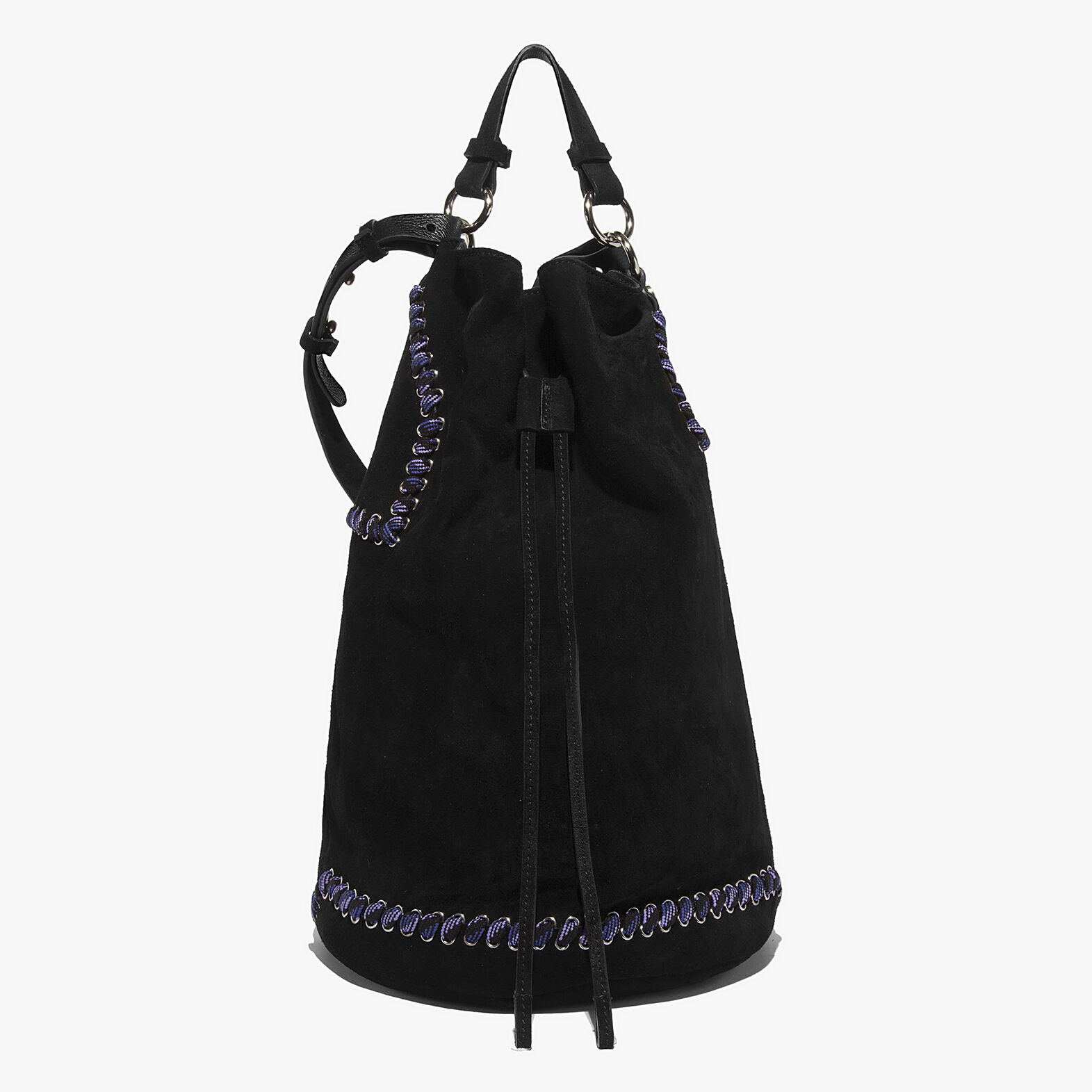 flavienne bucket bag in suede cuir coccinelle. Black Bedroom Furniture Sets. Home Design Ideas