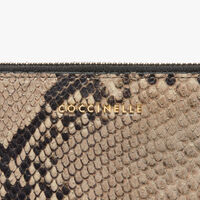 Python-print leather wallet