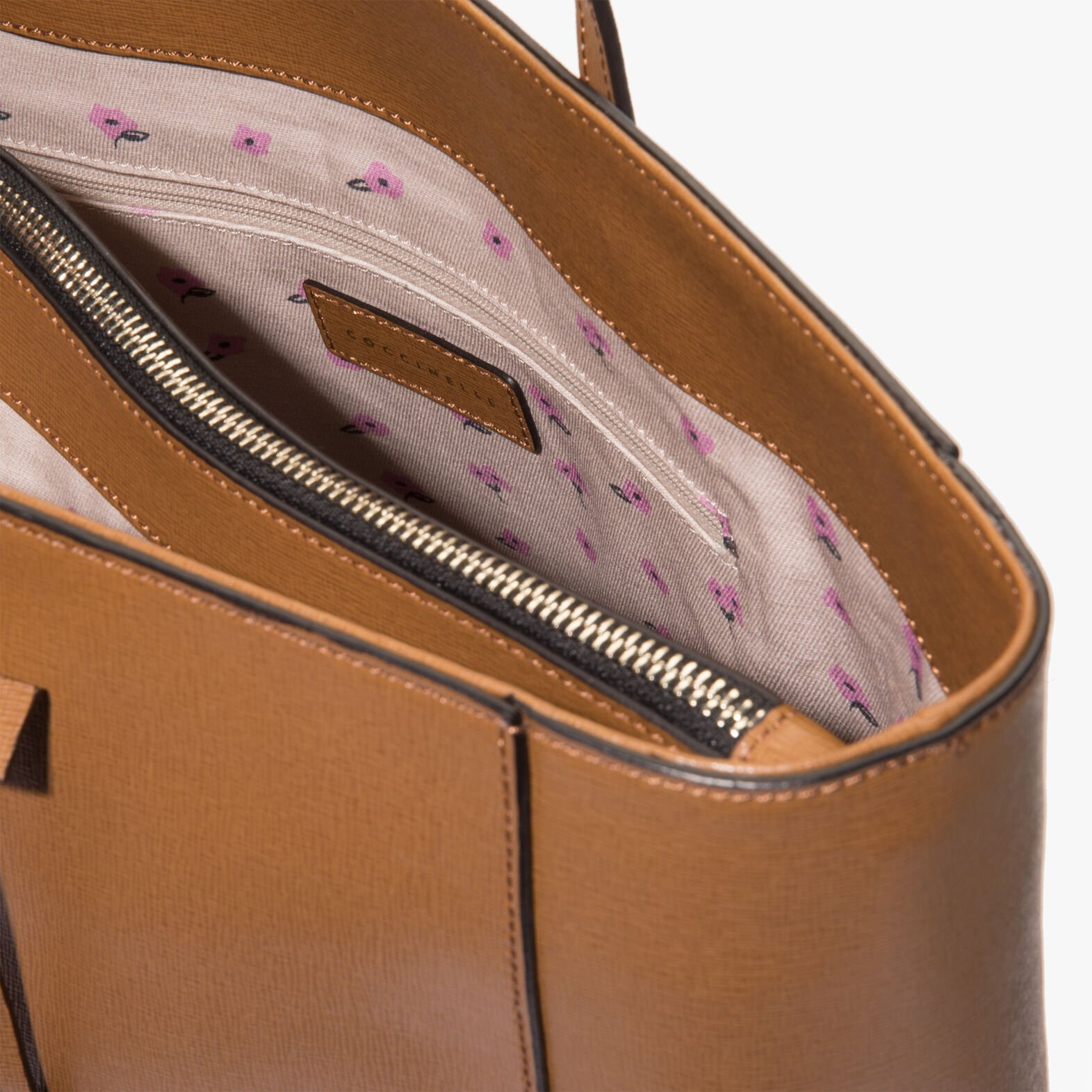 Coccinelle Clementine saffiano shopping tote