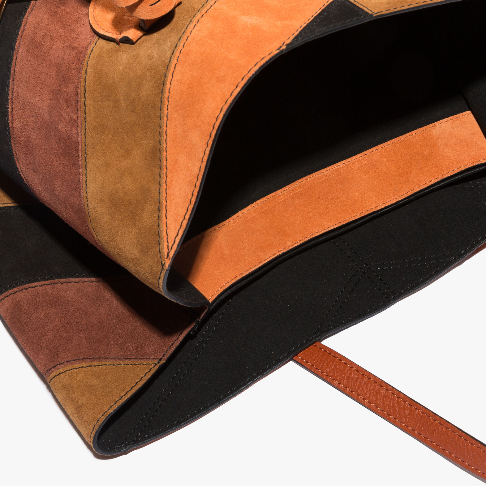 Celene suede and leather shopping tote