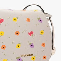 Clementine printed saffiano leather bandolier bag