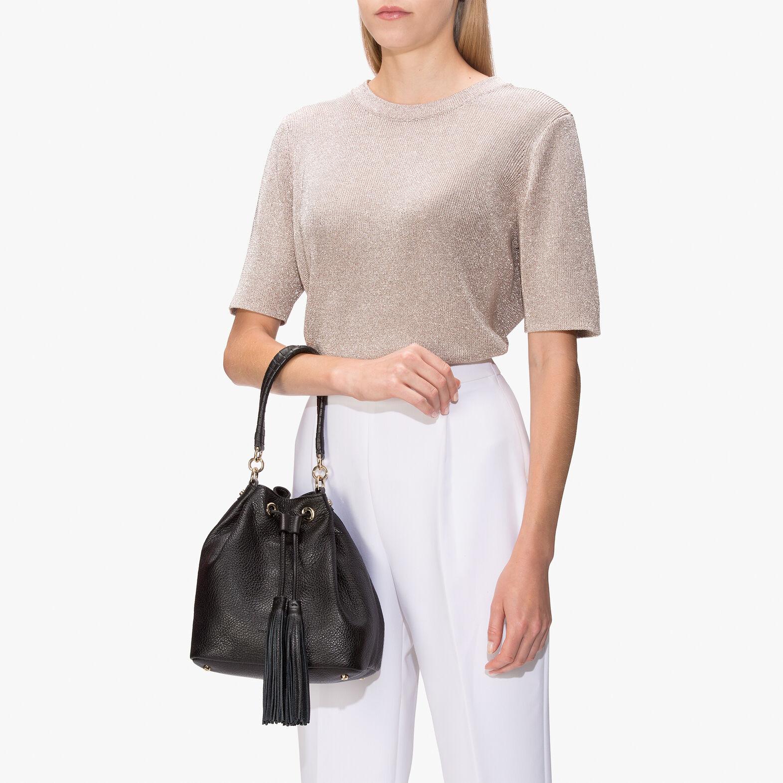 Leonie leather bucket bag