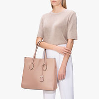 Celene leather shopping tote