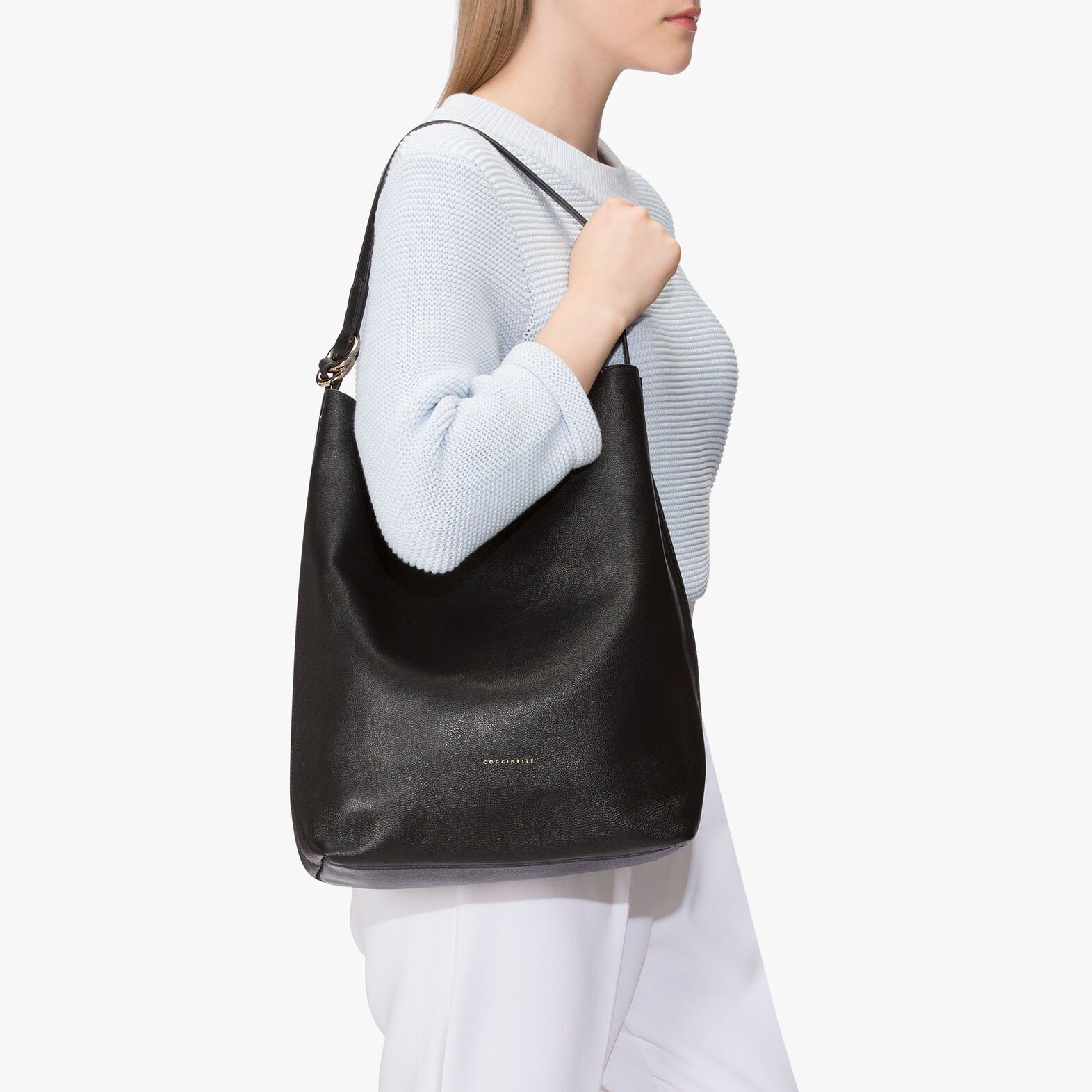 Davon leather hobo bag