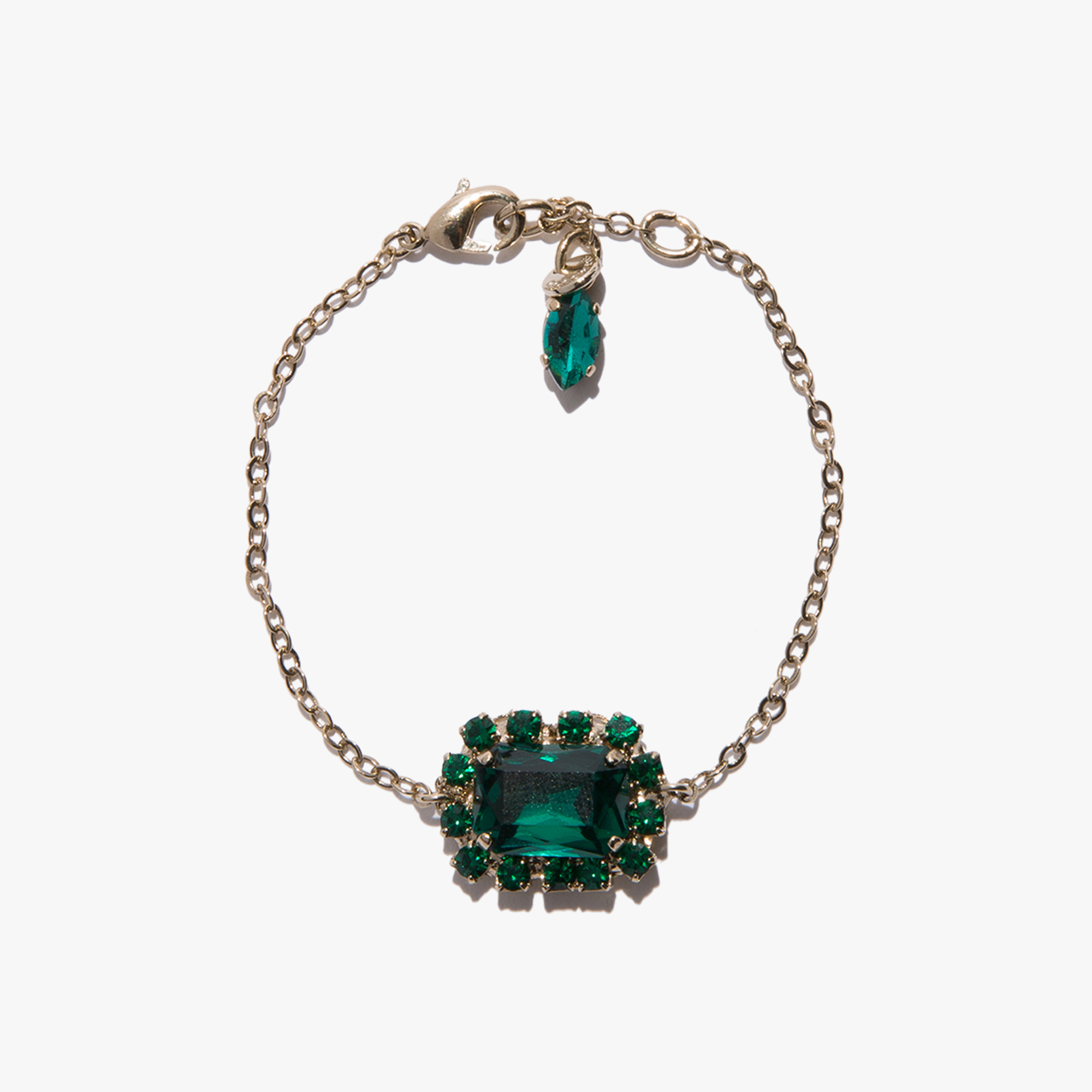 Coccinelle Brass and crystal bracelet