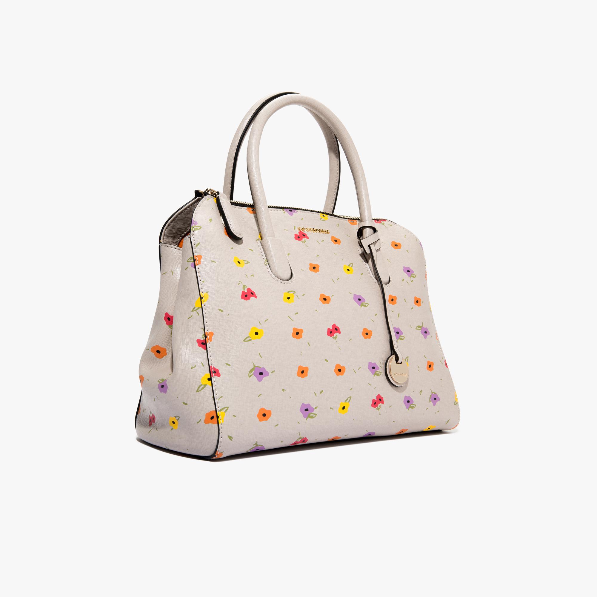 Clementine printed saffiano leather handbag