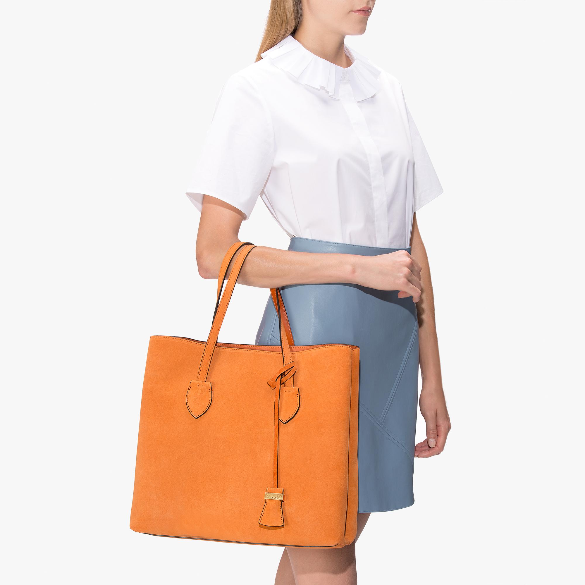 Celene leather shopping tote