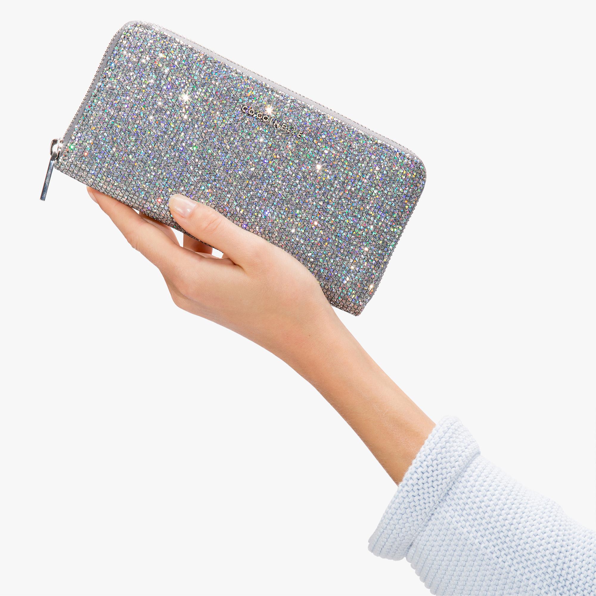 Glittery fabric wallet