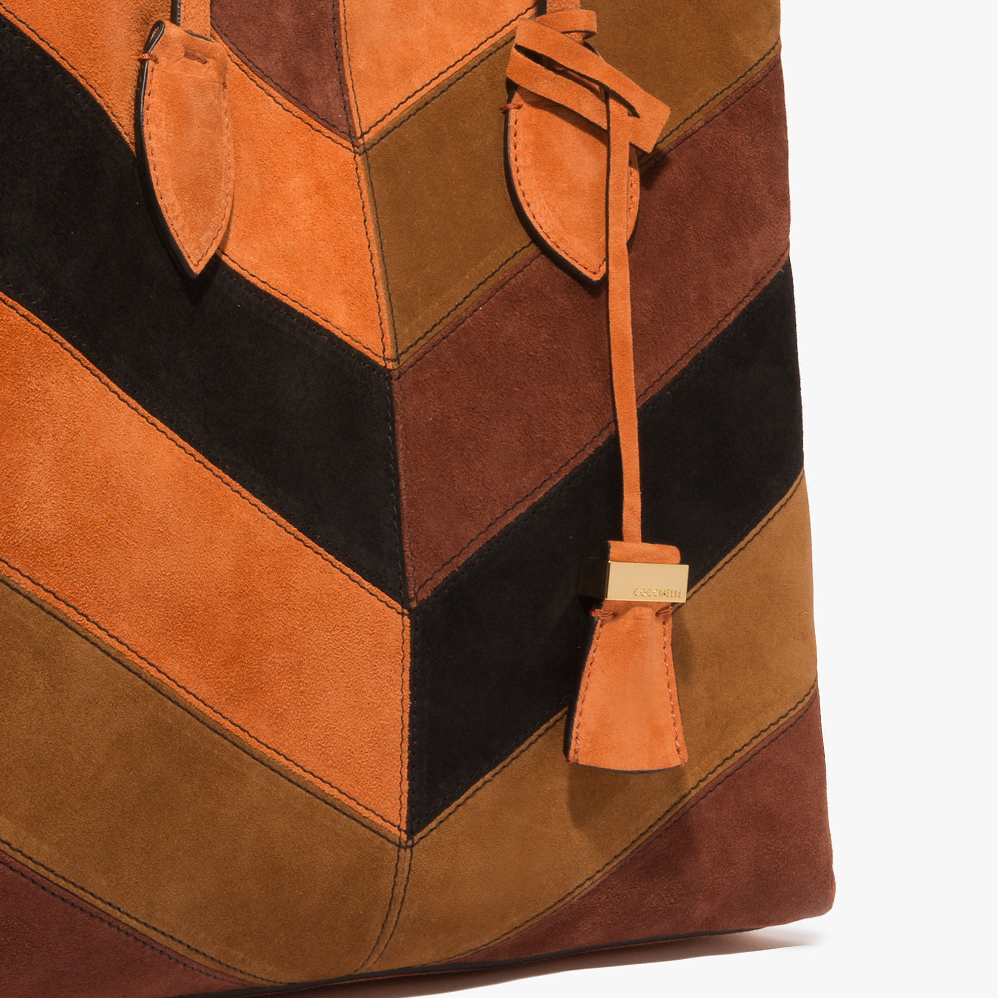 Coccinelle Celene suede and leather shopping tote