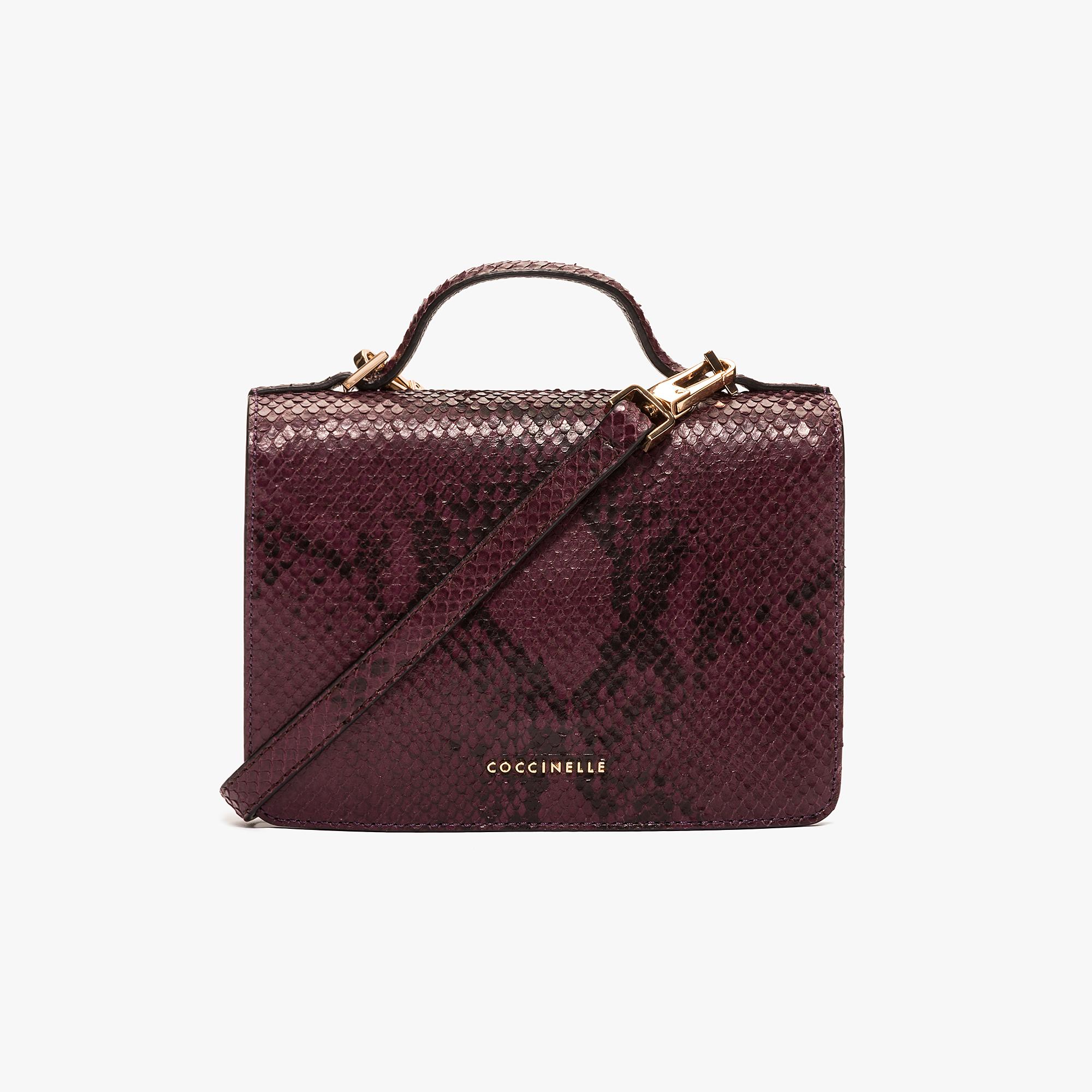 Coccinelle Python-print leather mini clutch