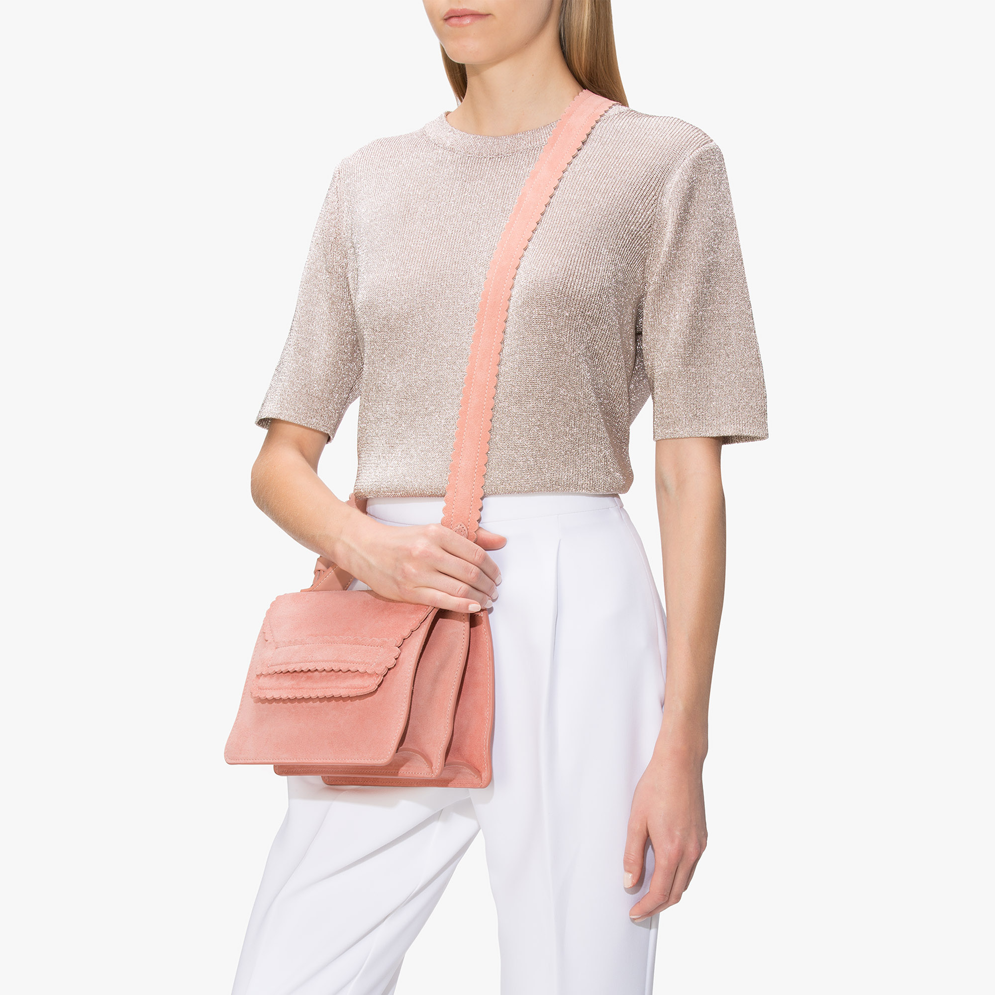 Coccinelle Leopoldine suede cross-body bag