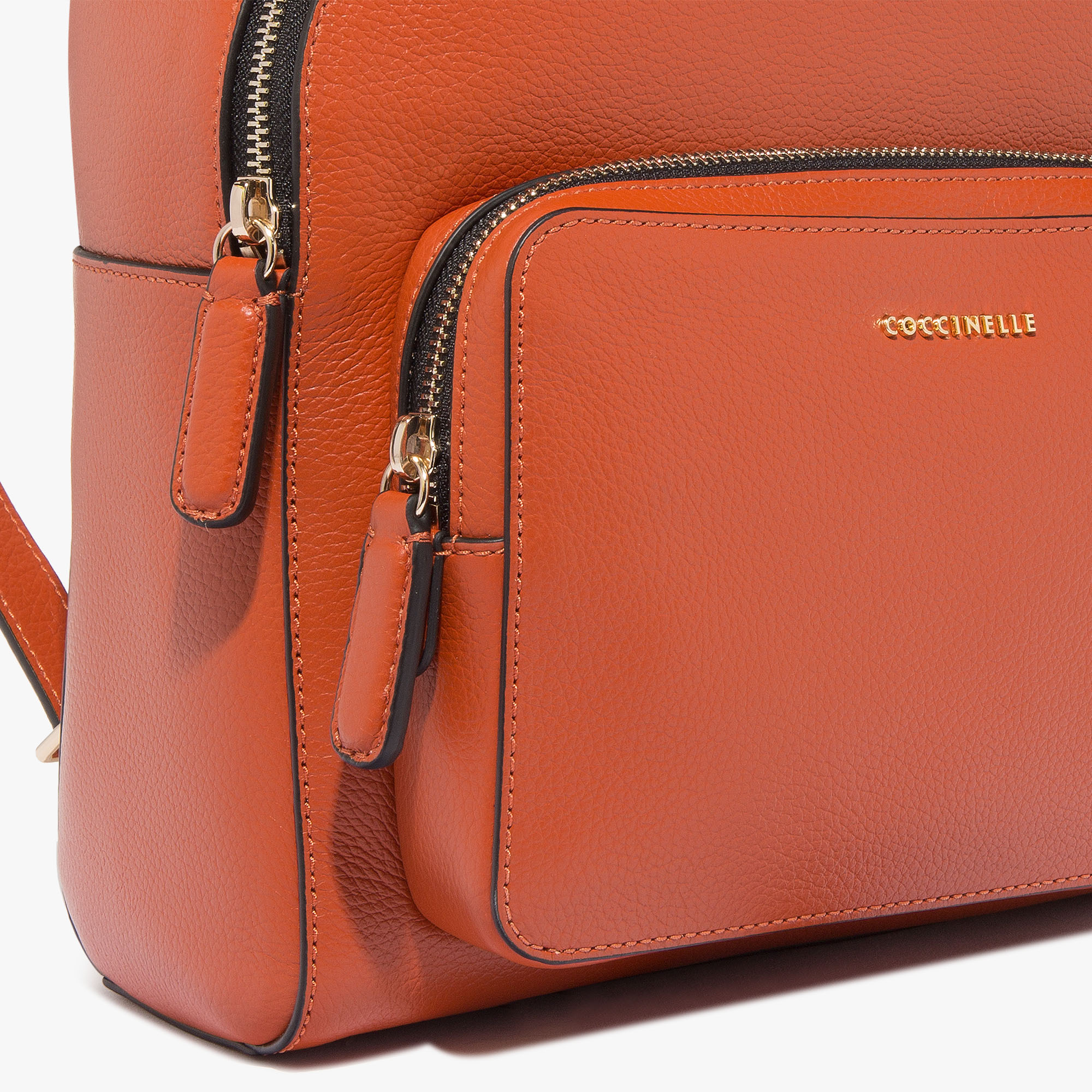 Clementine leather backpack bag