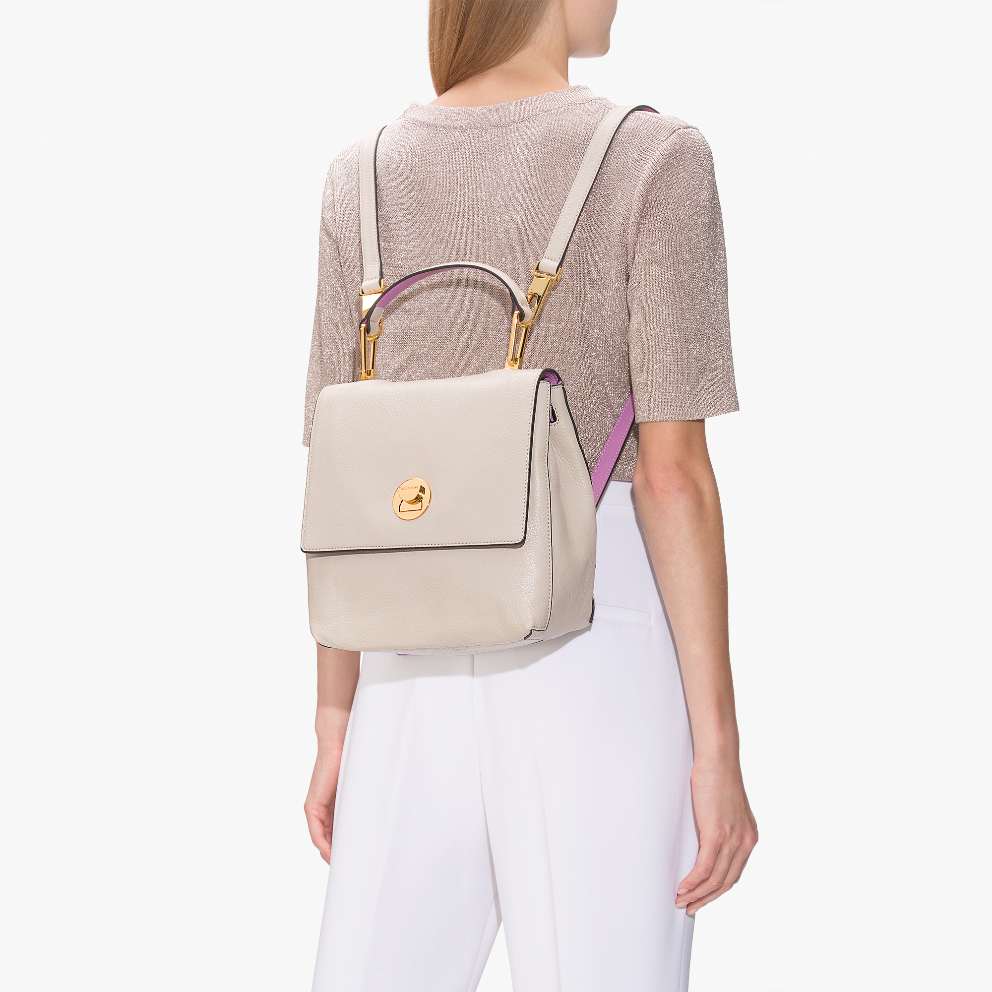 Coccinelle Liya leather mini backpack