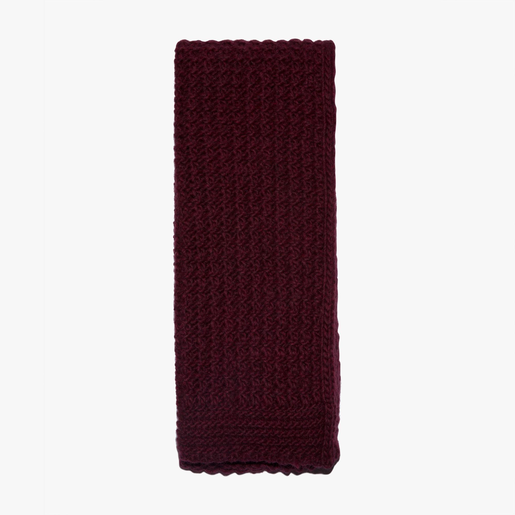 Wool, acrylic, alpaca and viscose scarf