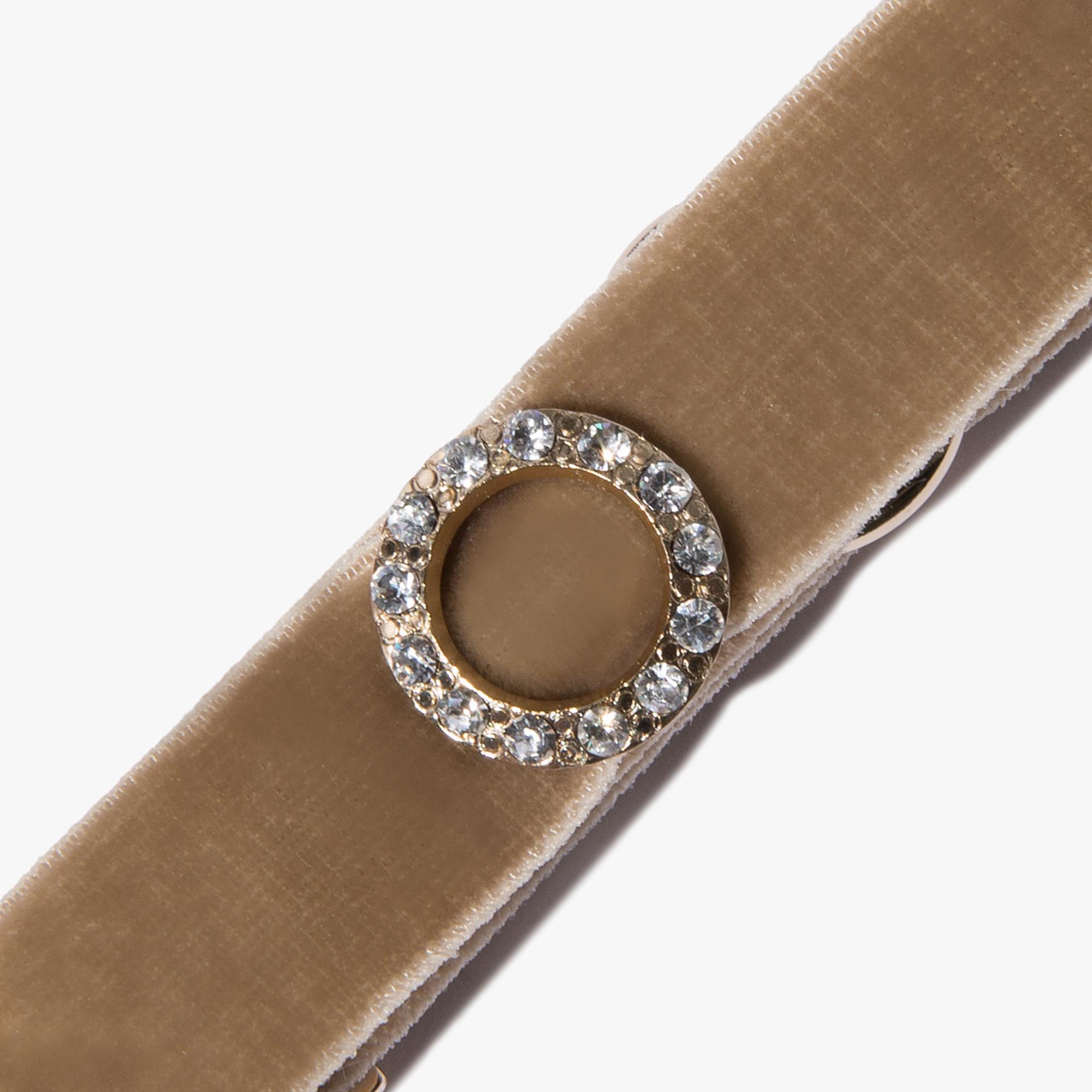 Coccinelle Velvet and crystal bracelet