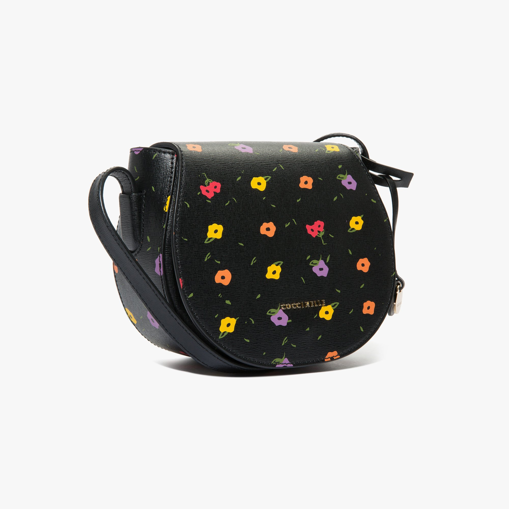 Coccinelle Clementine printed saffiano leather bandolier bag