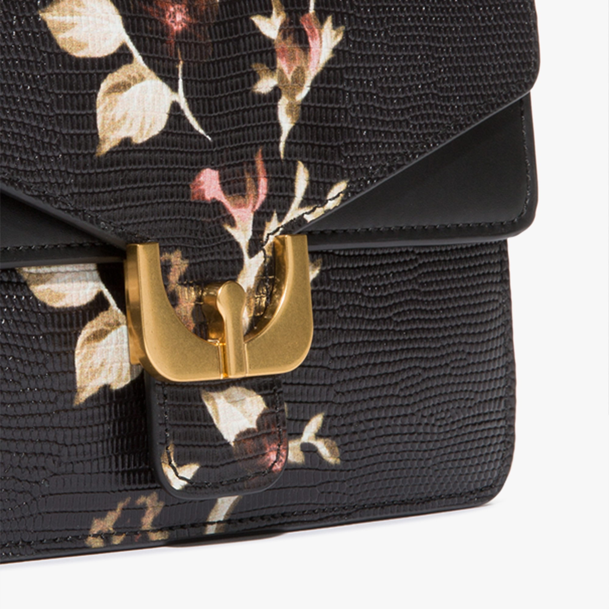 Coccinelle Ambrine clutch in lizard-print leather