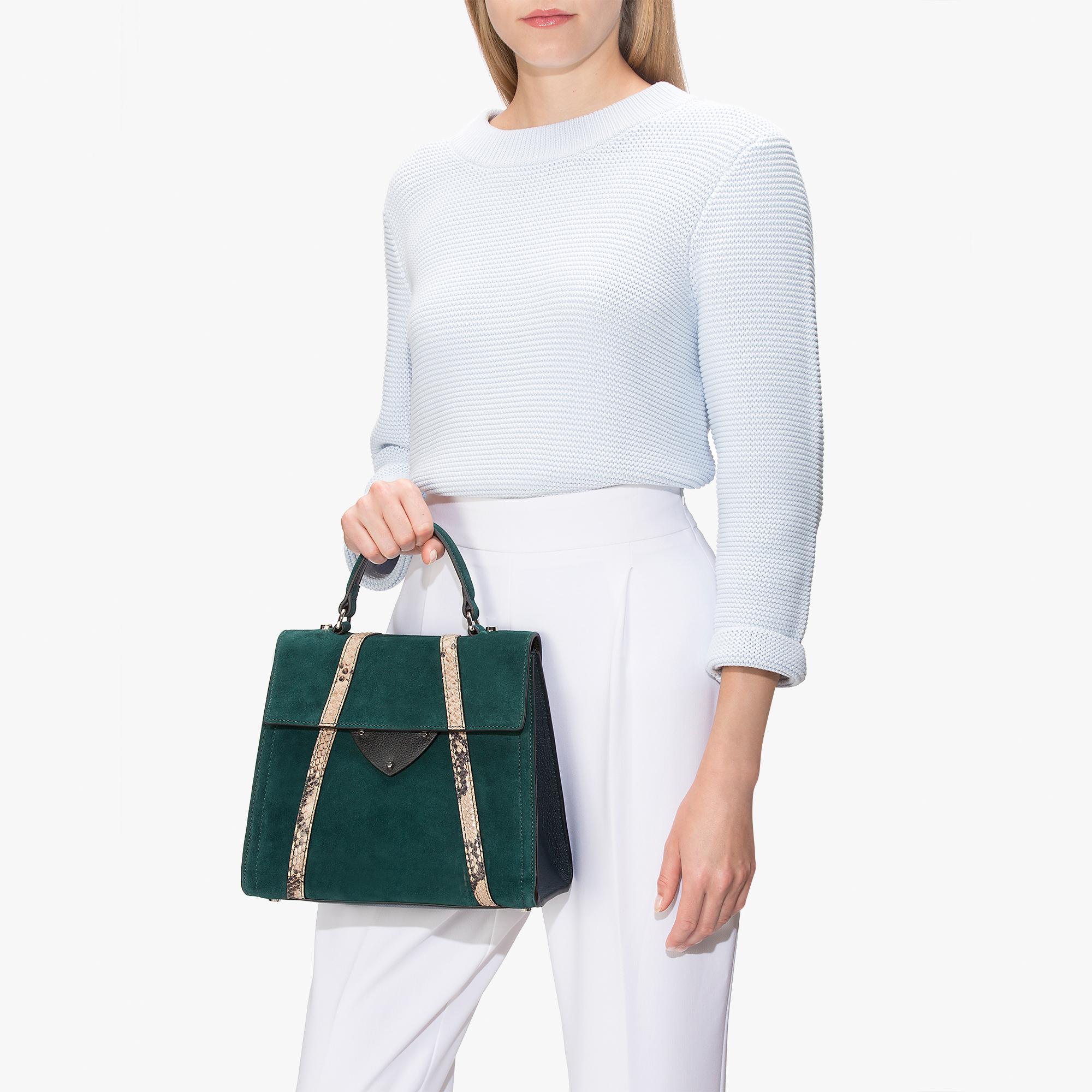 Coccinelle B14 suede handbag