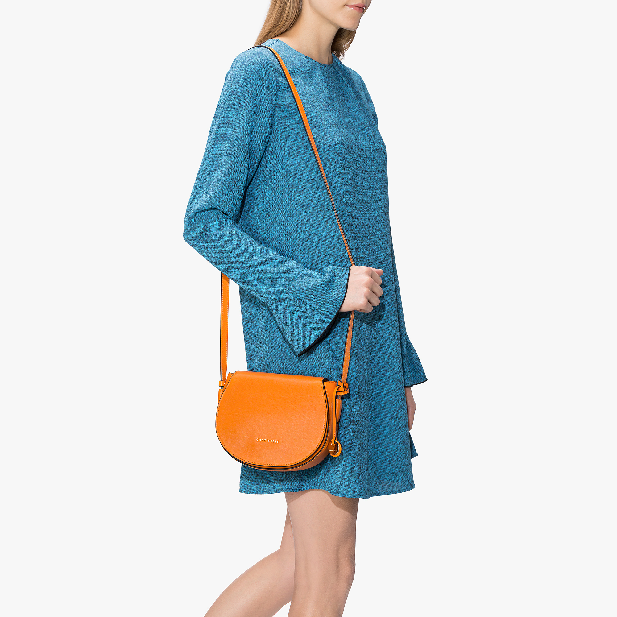 Coccinelle Clementine saffiano leather bandolier bag