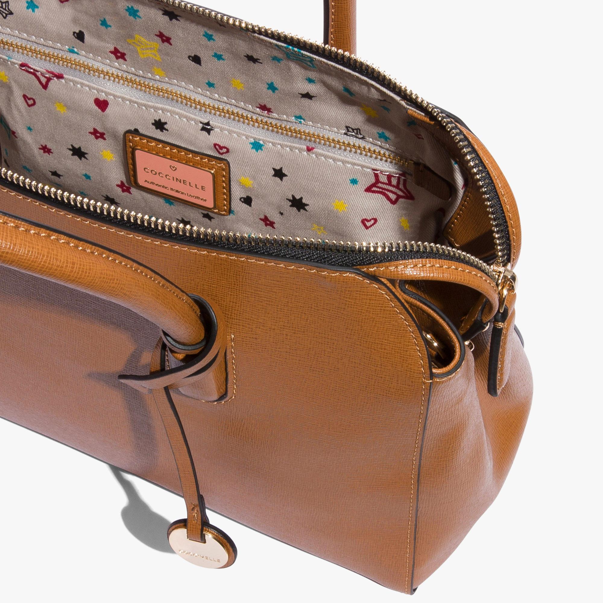 Clementine saffiano handbag