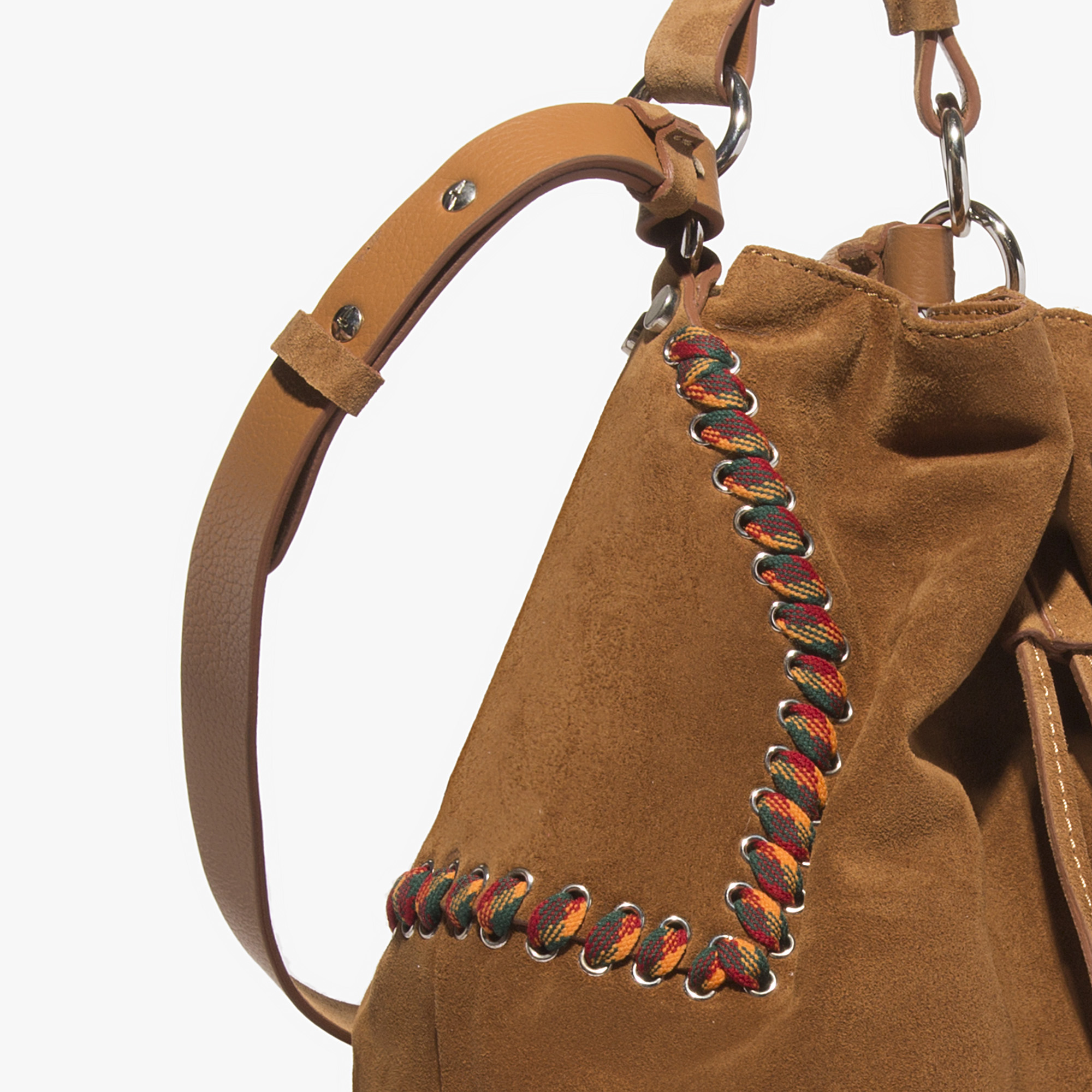 Flavienne suede bucket bag