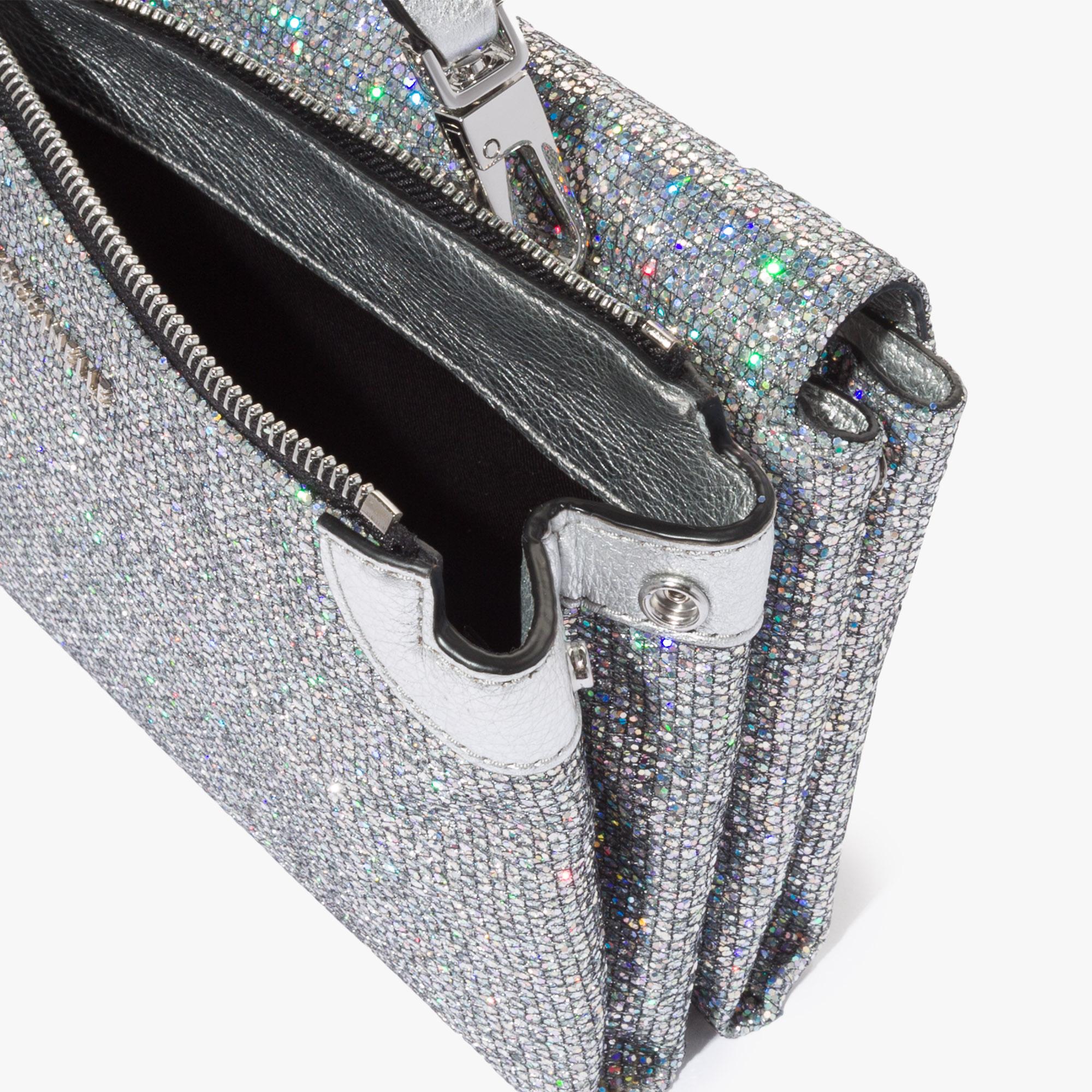 Arlettis mini bag in glitter fabric