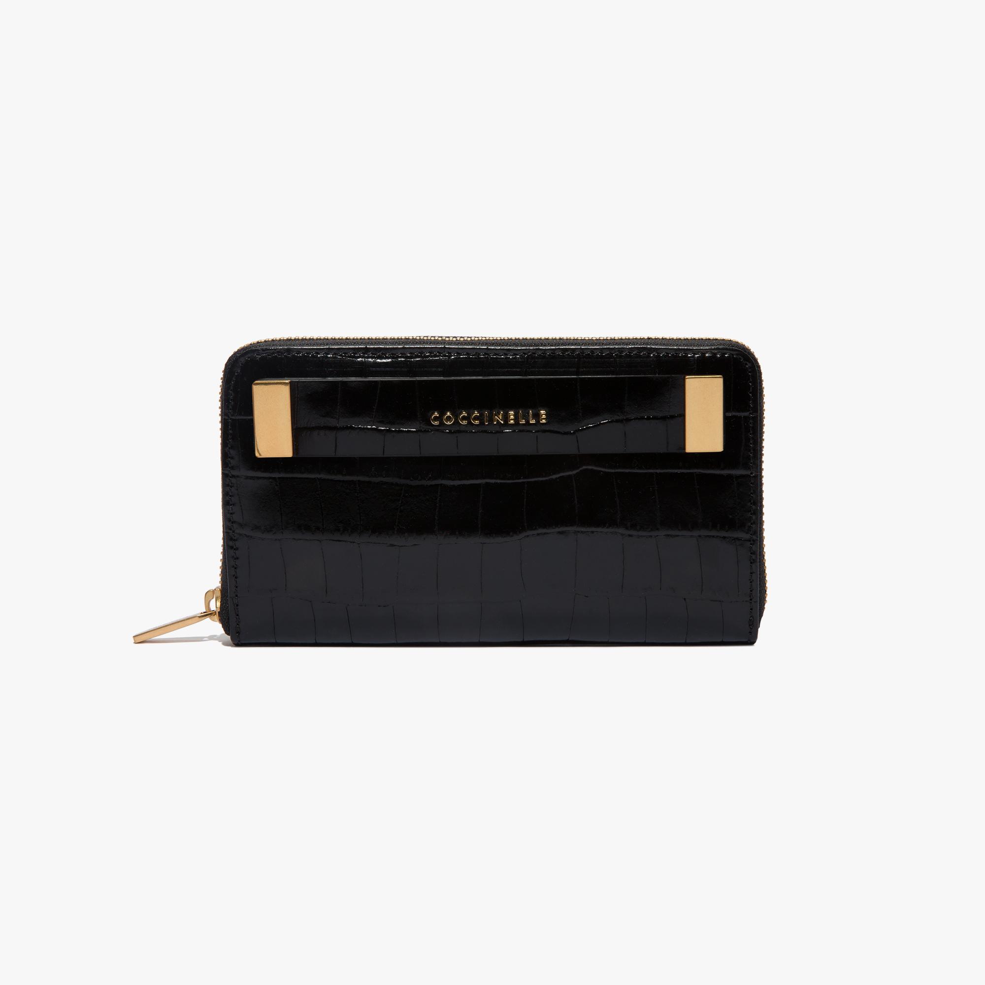 Coccinelle Crocodile-print leather wallet