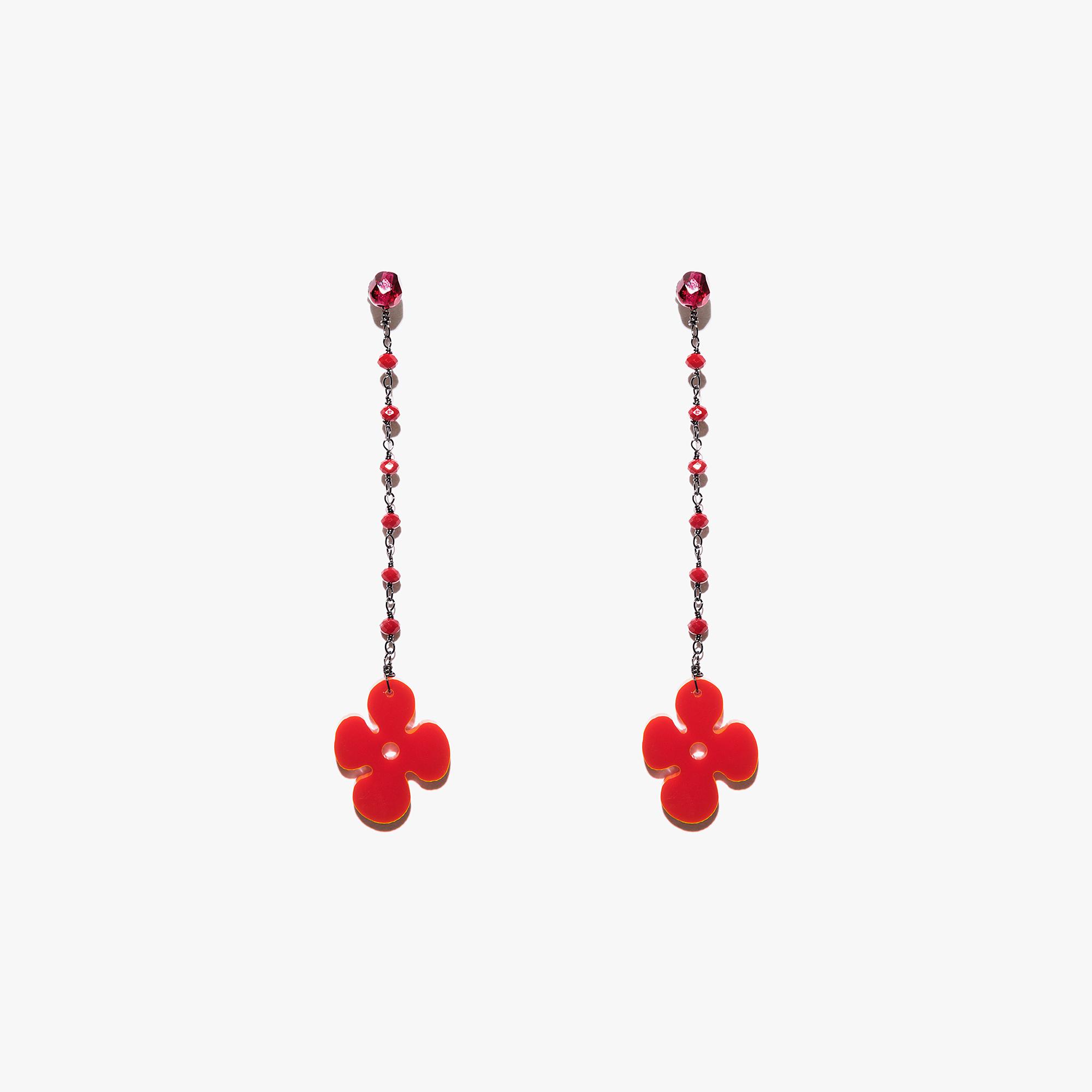 Plexiglas and crystal earrings
